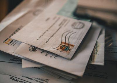 reception courriers domiciliation d'entreprise